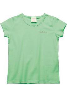Blusa Quimby Infantil Feminino - Feminino-Verde
