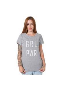 Camiseta Stoned Girl Power Cinza