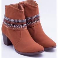 bff28b7ad7 Ankle Boot Dakota Apliques Castanho 34