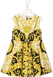 Young Versace Vestido Sem Mangas Com Estampa - Preto