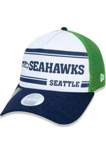Boné New Era Aba Curva Ajustavel Nfl Seattle Seahawks - Unissex
