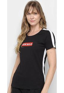Camiseta Vide Bula Recortes Feminina - Feminino