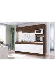 Cozinha Decibal Cs673R Com Rodapé Cacau/Branco Se