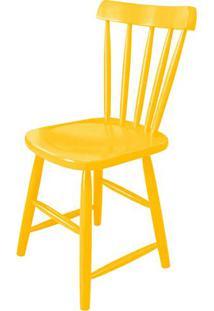 Cadeira Skand Assento Escavado Cor Amarela - 33362 - Sun House