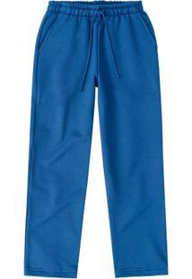 Calça Moletom Infantil Malwee Masculino - Masculino-Azul
