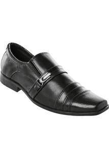 Sapato Social Masculino Preto Detalhe Metálico