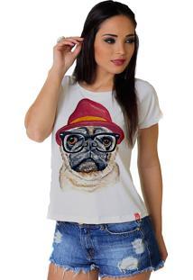 Camiseta Wevans Dog Pug Fashion Branca