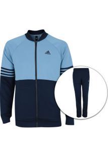 Agasalho Adidas Mts Pes Cosy - Masculino - Azul Esc/Azul Cla