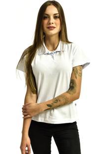 Camiseta Rich Young Pã³Lo Bã¡Sica Lisa Manga Curta Branca - Branco - Feminino - Dafiti