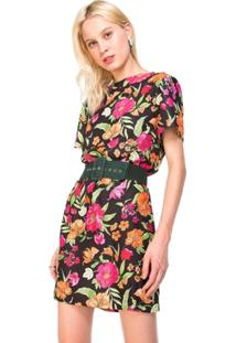 Vestido Amaro Reto Estampado - Feminino