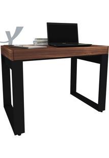 Mesa Para Computador 1 Gaveta Squadra-Artany - Ipê / Preto