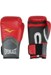 Luvas De Boxe Everlast Pró Style Training - 12 Oz - Adulto - Vermelho
