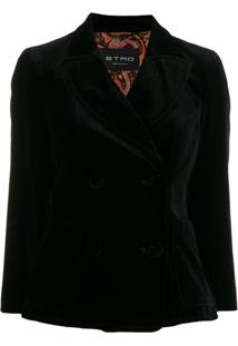Etro Double Breasted Jacket - Preto