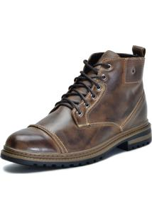 Bota Worker Over Boots Couro Rust Manchado City
