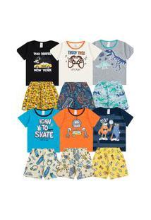 Kit 6 Pijamas Infantil Menino Veráo