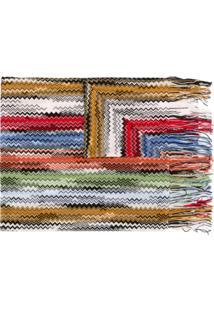 Missoni Cachecol Com Padronagem Zigzag - Vermelho