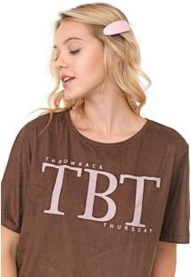 Camiseta My Favorite Thing(S) Suede Marrom