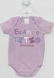 Body Bebê Manga Curta Titio - Feminino-Lilás