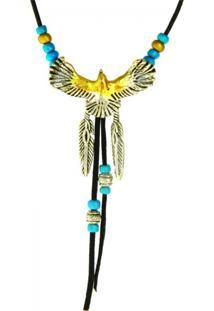 Colar Klauk Colar Falcão Multicolorido
