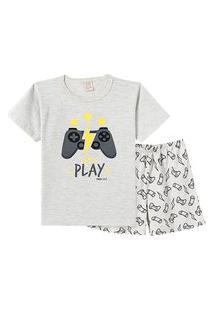 Pijama Pingo Lelê Manga Curta Play Game Mescla