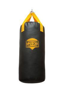 Saco De Pancada Punch Home - 90Cm - Preto/Amarelo