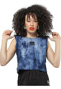 Camiseta Starter Cropped Tinturada - Feminino