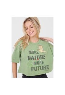 Camiseta Colcci Nature Verde