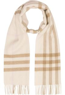 Burberry Cachecol The Classic Check De Cashmere - Marrom