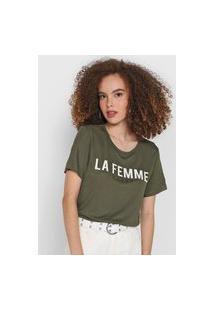 Camiseta Colcci La Femme Verde