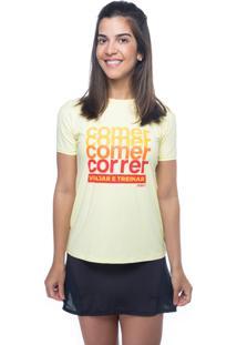 Camiseta Funfit Camiseta Amarelo