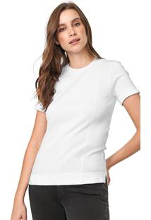 Camiseta Calvin Klein Recortes Branca