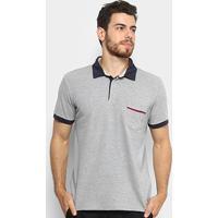 Camisa Polo Com Bolso Colcci Masculina - Masculino-Mescla eb7a8e5f9d030