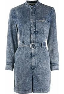 Stella Mccartney Macaquinho Jeans Com Cinto - Azul