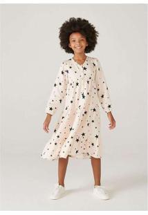 Vestido Midi Infantil Menina Em Tecido De Viscose