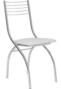 Cadeira Cromada Fred Branca