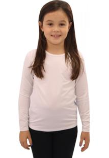 Camiseta Térmica Question Sport Com Fleece Interno Infantil Branco