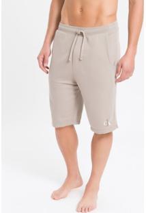 Bermuda Masc Moletom Ck One Loungewear - Cáqui - P