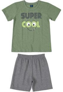 Conjunto Infantil Menino Cool Verde