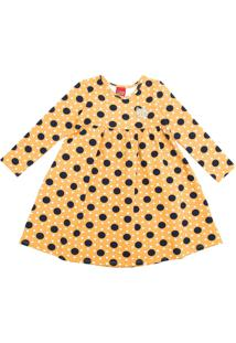 Vestido Kyly Infantil Poás Amarelo