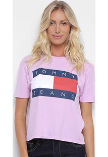 Camiseta Tommy Jeans Logo Feminina - Feminino