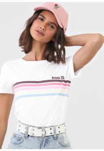 Camiseta Hang Loose Sun Collors Branca - Kanui