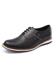 Sapato Social Shoes Grand 6910/3 Preto/Cinza