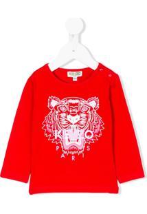 Kenzo Kids Blusa 'Tiger' - Vermelho