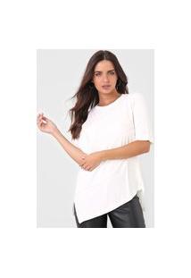 Camiseta Maria Valentina Canelada Off-White