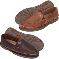 a9beef329bd Kit Mocassim Couro Clássico Masculino - Masculino-Marrom