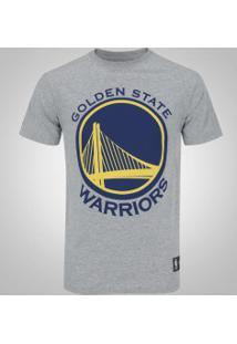 Camiseta New Era Golden State Warriors Basic Logo - Masculina - Cinza 580468f95389e