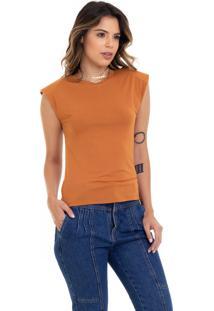 Camiseta Manola Muscle Mostarda