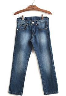 Calça Jokenpô Infantil Jeans Blue - Masculino-Azul