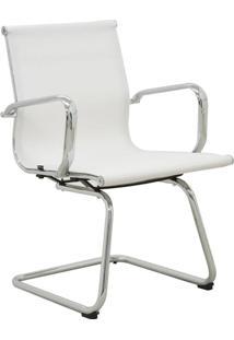 Cadeira De Escritório Fixa Tela Sevilha-Rivatti - Branco