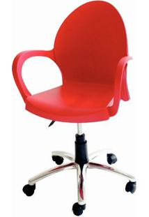 Cadeira Grace Com Rodizio Cor Vermelho - 20060 - Sun House